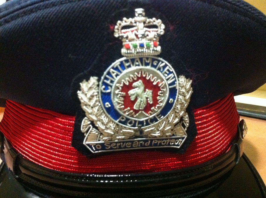 Chatham-Kent Police Service hat. (BlackburnNews.com File Photo)