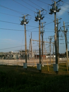 Hydro transformer station in Sarnia (BlackburnNews.com photo by Melanie Irwin)