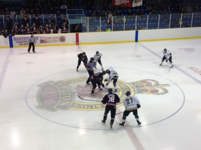 Sarnia Legionnaires Face Off Jan 31,2014