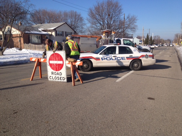 Police investigate fatal collision at Cathcart and Murphy January 2013. (blackburnnews.com photo)