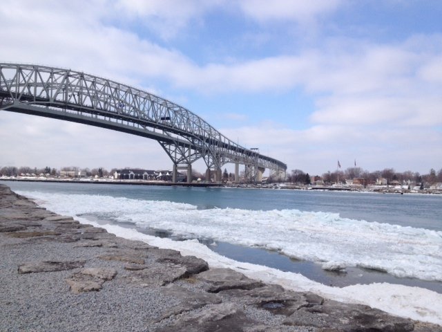 Bluewater Bridge Ice