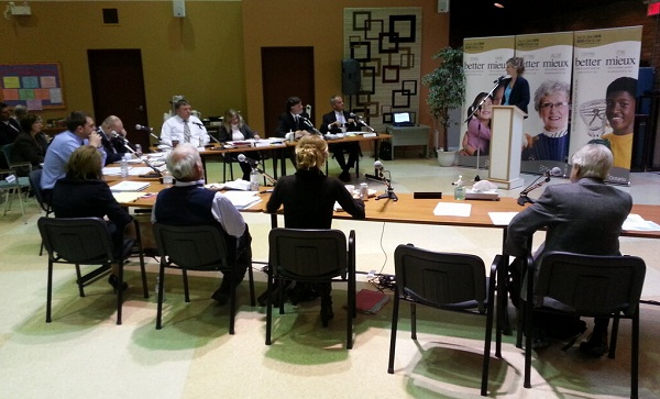 The Erie-St.Clair LHIN board meeting at the Windsor-Essex Alzheimer's Society.