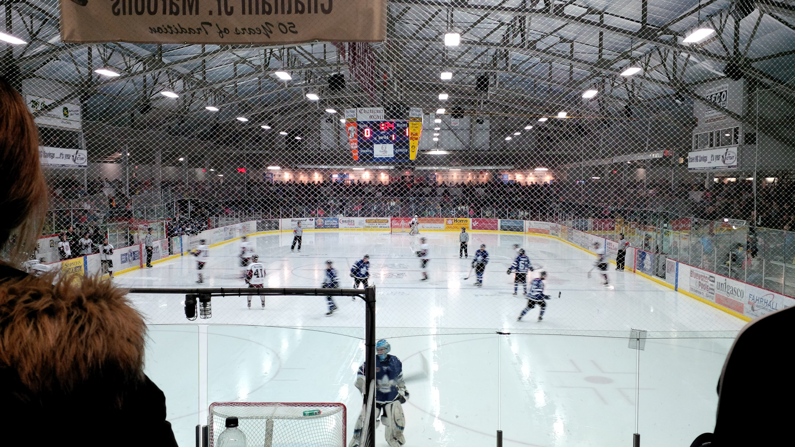 Chatham Maroons take on the London Nationals at the Chatham Memorial Arena in a 2013 playoff game. (Ricardo Veneza)