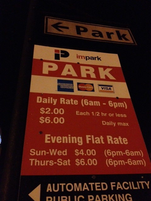 Impark rate sign by Blackburn London