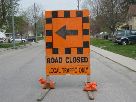 Road Closed - Blackburn News File Photo