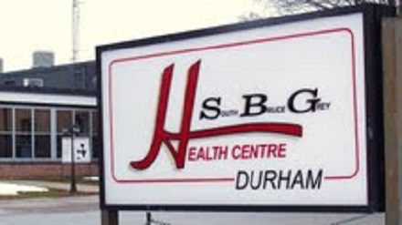 South Bruce Grey Health Centre sign