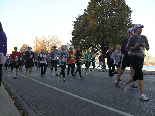 BlackburnNews.com file photo of runners participating in the Detroit Free Press Marathon 2012.