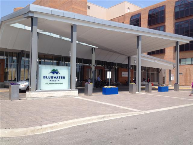 Bluewater Health entrance in Sarnia (BlackburnNews.com file photo)