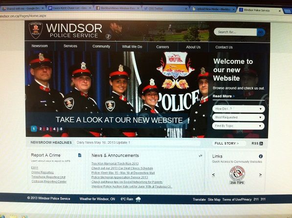 Windsor Police Launch New Site
