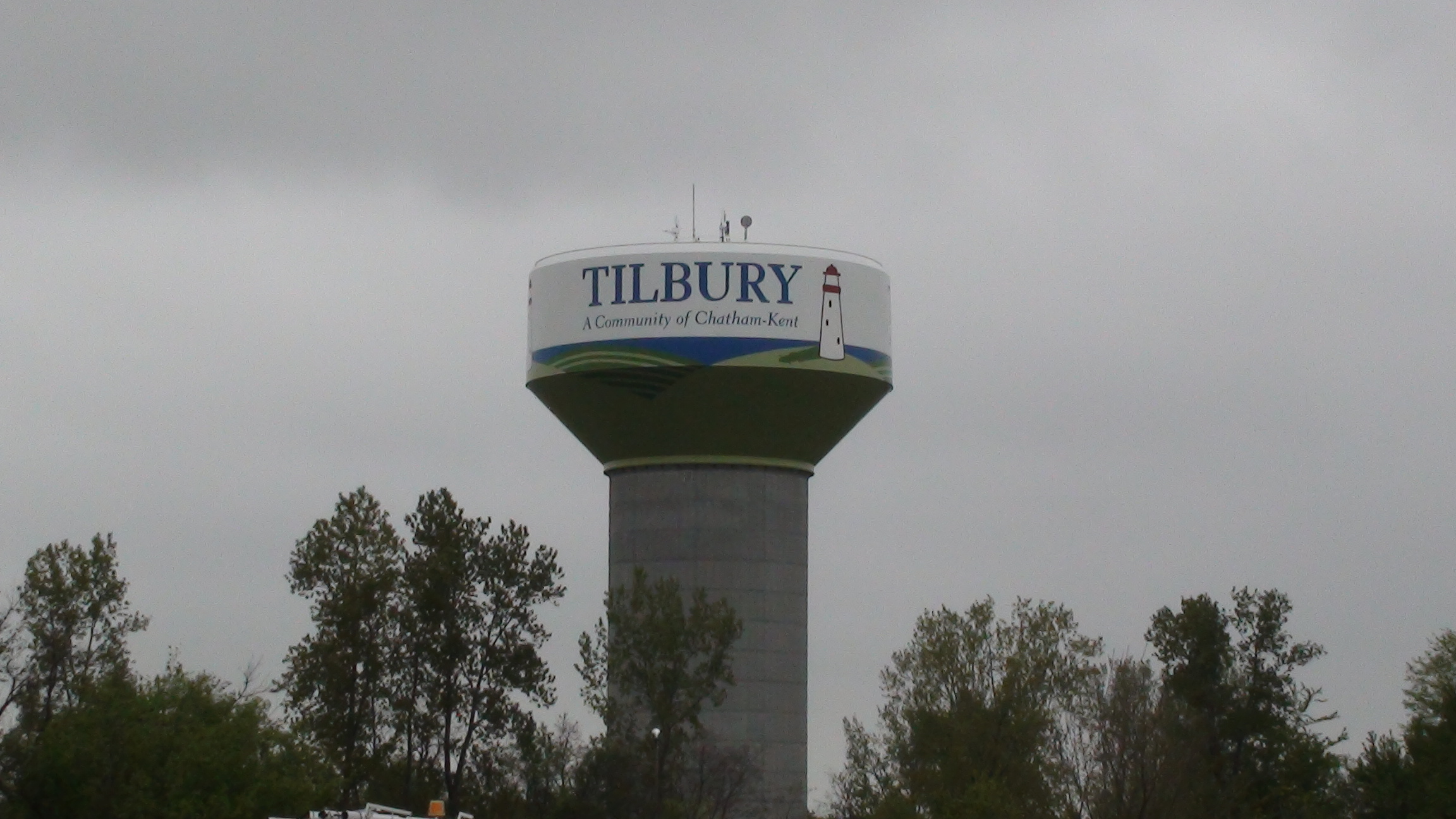 The Tilbury water tower. (BlackburnNews.com file photo by Dave Richie)