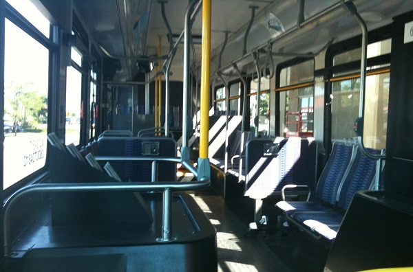 BlackburnNews.com file photo of the inside of a Transit Windsor bus.