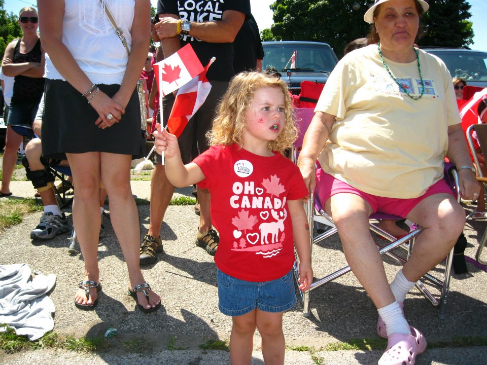 Canada Day parade. BlackburnNews.com file photo.