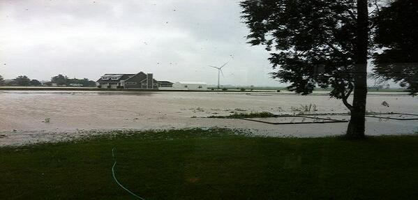 Flooding just outside the Town of Essex following heavy rain, June 13, 2013. (Photo courtesy of Brendan Marc Byrne)
