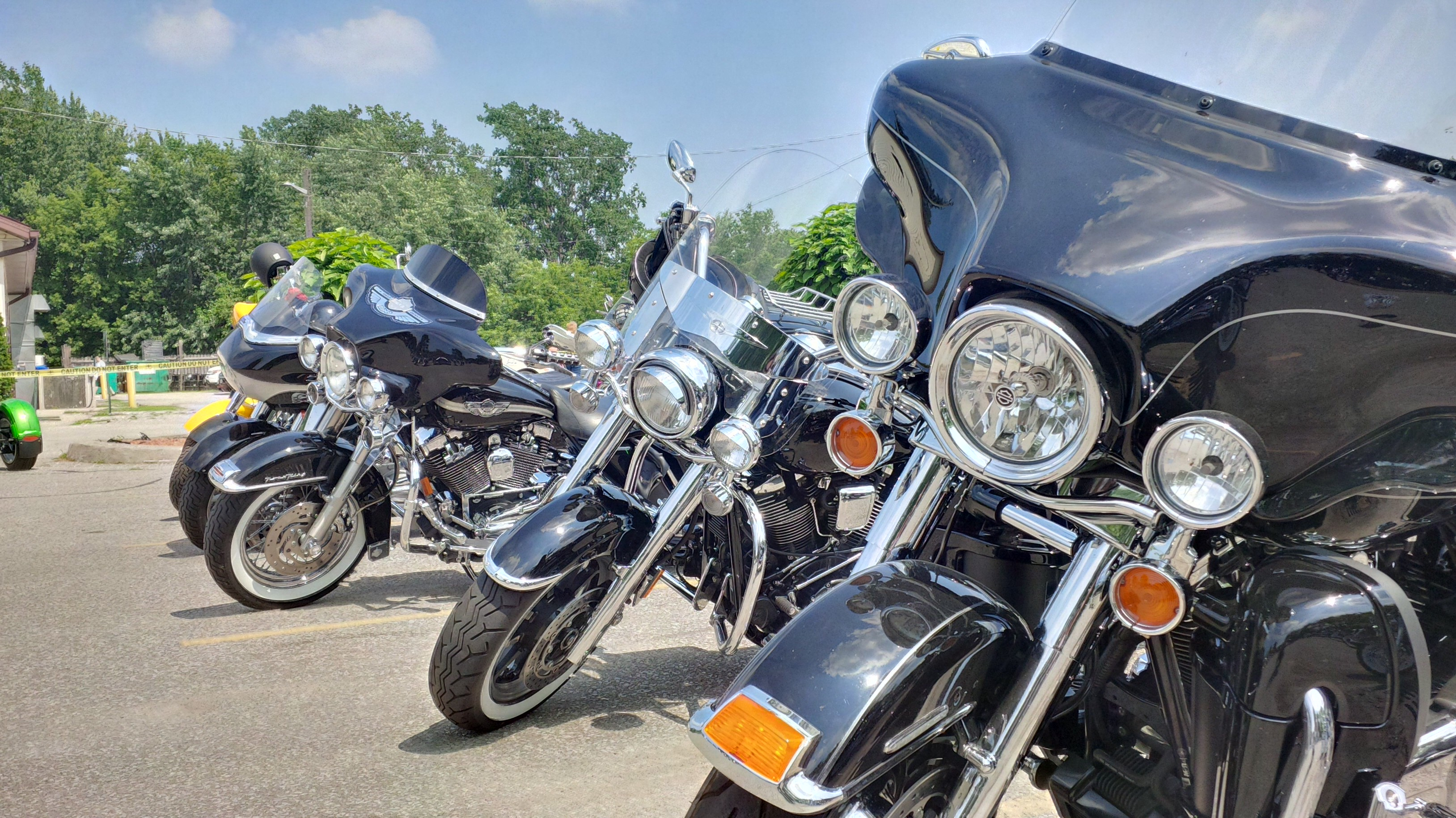 Bikes are parked at the Riverside Sportsmen's Club for the 3rd annual Bob Probert Memorial Ride. (Photo by Ricardo Veneza)