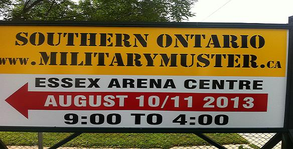 Southern Ontario Military Muster 2013 sign