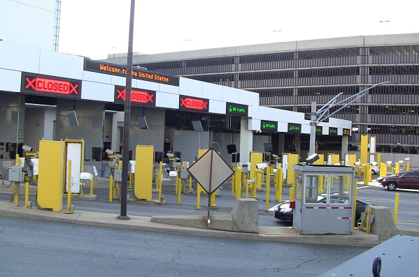 BlackburnNews.com file photo of customs booths on the U.S. side of the Windsor-Detroit Tunnel.