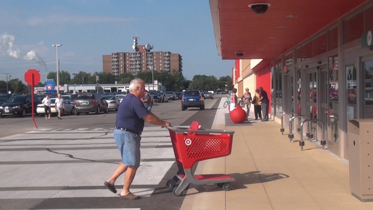 Shoppers enter the Target store in Chatham