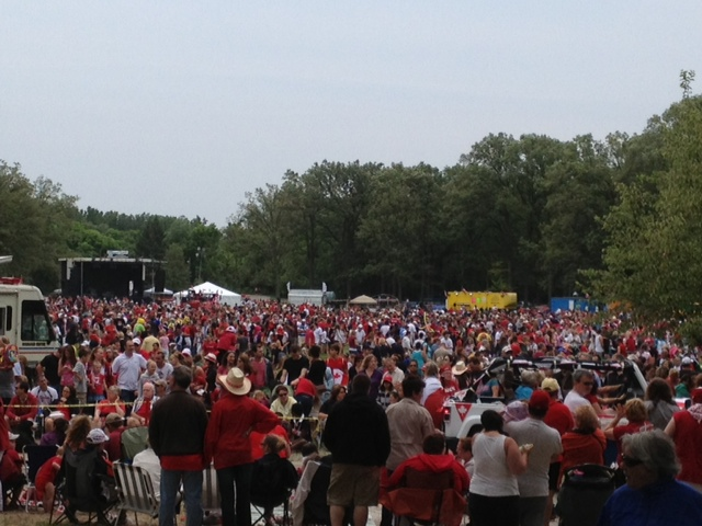 Large crowds gather July 1 each year in Sarnia to celebrate Canada's birthday. (photo by Dave Dentinger)