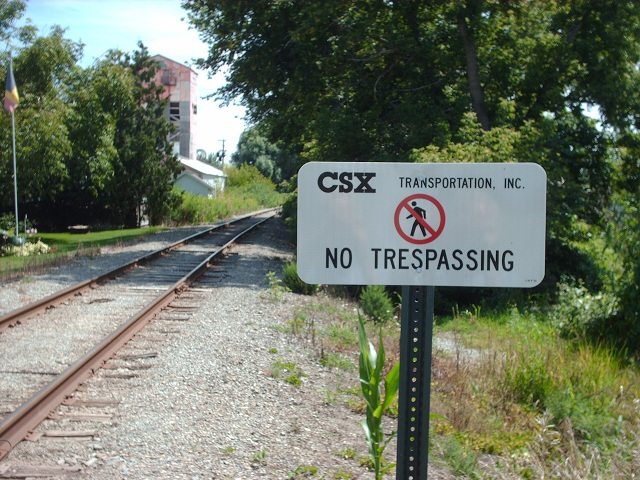A section of the former CSX line through Tupperville that Chatham-Kent wants to re-open. (Photo by Simon Crouch)