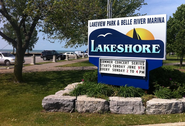 Lakeview Park and Belle River Marina in Lakeshore.