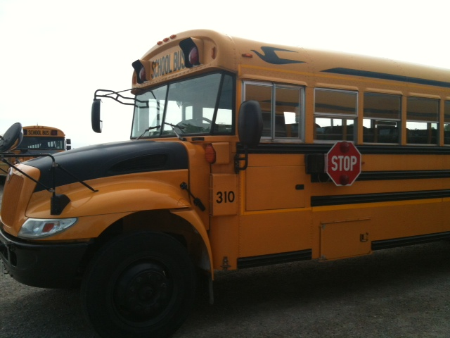 School bus parked