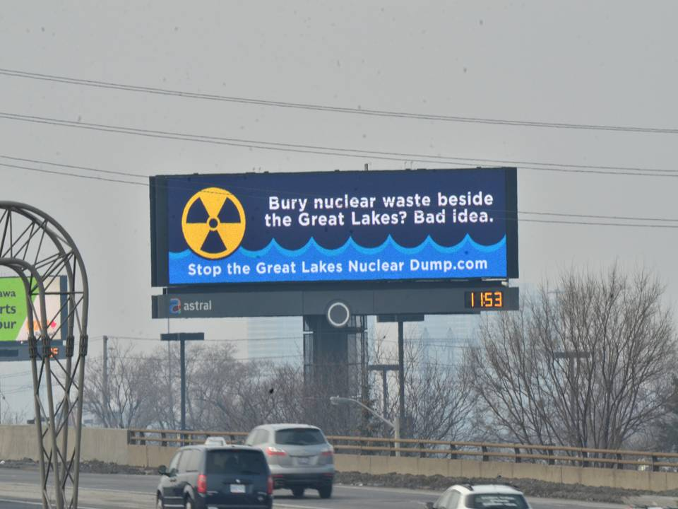 Photo submitted by Stop the Great Lakes Nuclear Dump