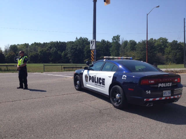Sarnia Police Road Block (BlackburnNews.com File Photo)