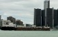 detroit river, windsor, detroit, ship, shipping, renaissance centre