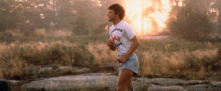 A photo of Canadian icon Terry Fox courtesy www.terryfox.org.