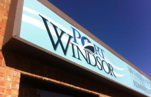 Windsor Port Authority sign. (Photo by Mike Vlasveld)