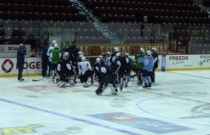 Windsor Spitfires practice at the WFCU Centre in Windsor.