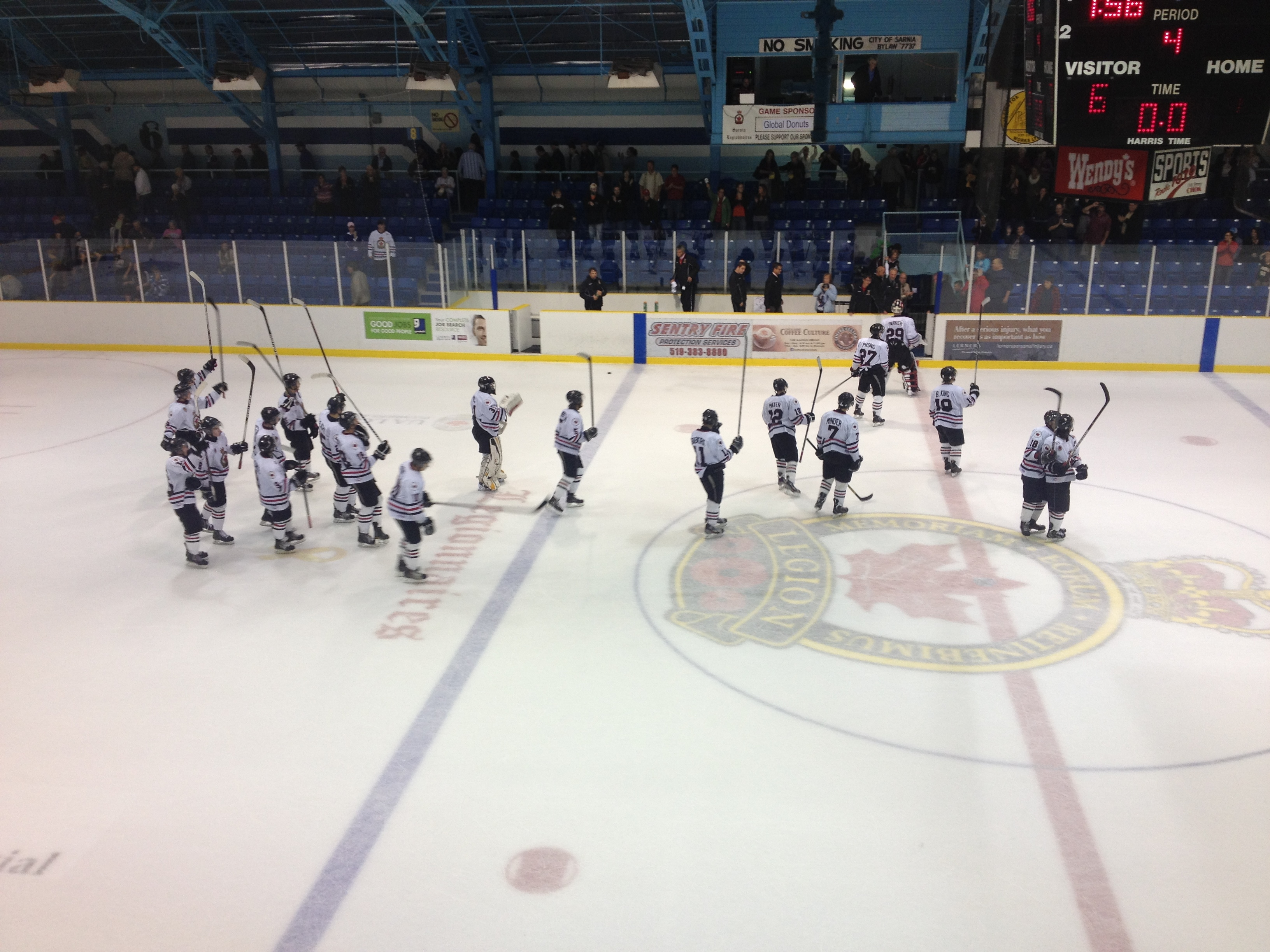 Sarnia Legionnaires win (Blackburnnews.com File Photo - Sept 19-13)
