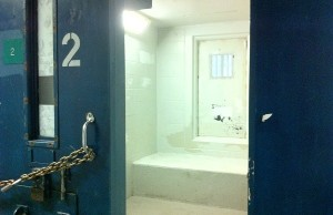 A solitary confinement cell inside Kingston Penitentiary. Photo by Ashton Patis.