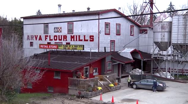 Screen capture of the Historic Arva Flour Mill from IndieGoGo campaign video.