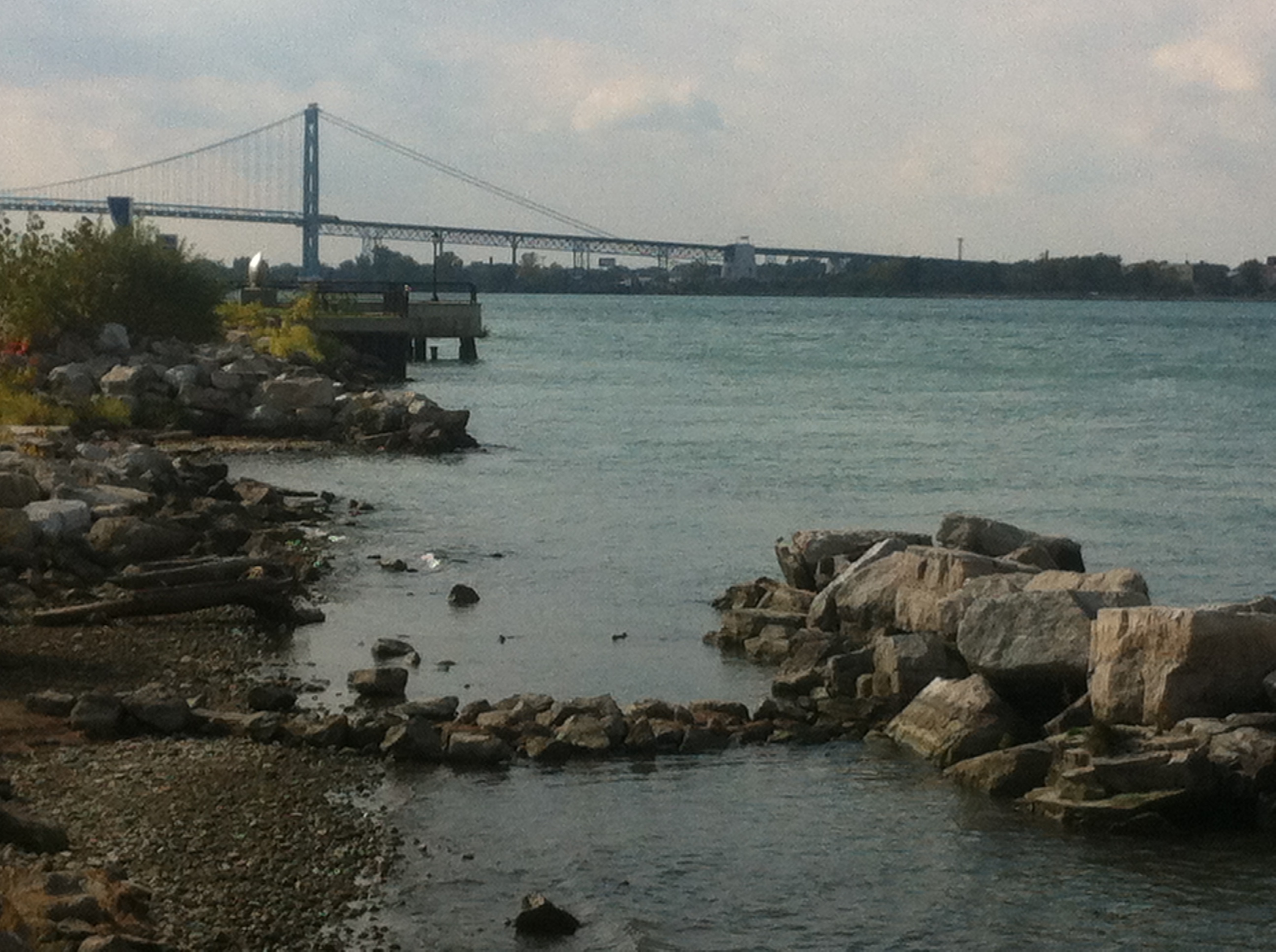 BlackburnNews.com file photo of the Detroit River shoreline in Windsor.