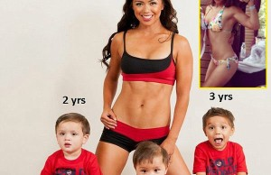 very fit mom with her three little kids titled What's Your Excuse?