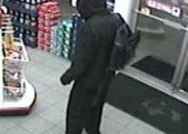 Sarnia police are looking for this man following a gas station robbery on Murphy Rd., November 23, 2013. (Photo courtesy of Sarnia Police Serivces)