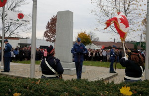 Remembrance Day ceremony in Leamington on November 11, 2013.