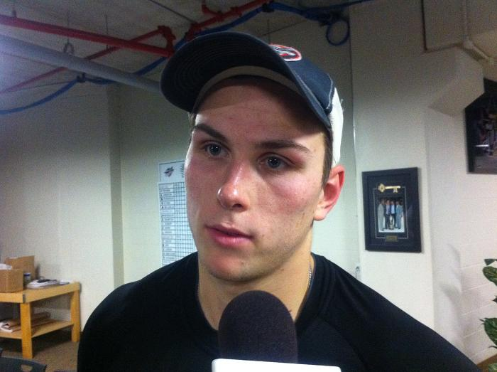 Former Windsor Spitfires Captain Kerby Rychel, November 7, 2013.