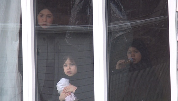 Children of Lev Tahor inside their Chatham home