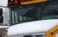 School bus and snow