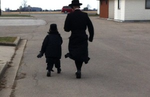 Lev Tahor boys on recess in Chatham.