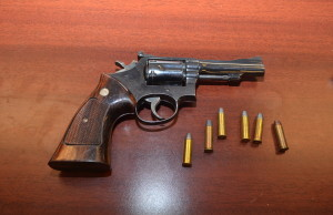 Photo from London Police of a handgun seized from a home on Sholto Drive.