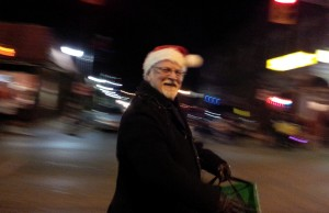 Mayor John Paterson hands out candy at the Leamington Santa Claus Parade on November 30, 2013.