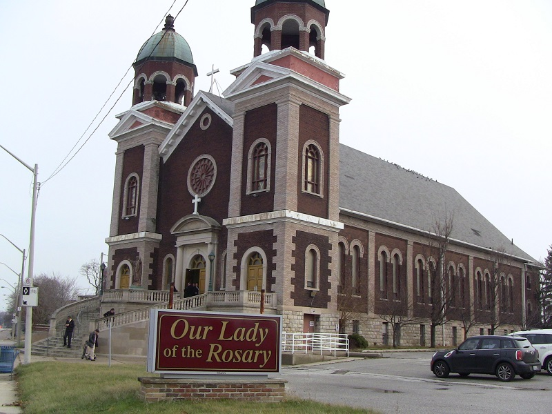 Our Lady of the Rosary Church on Riverside Dr. in Windsor. (BlackburnNews.com file photo)