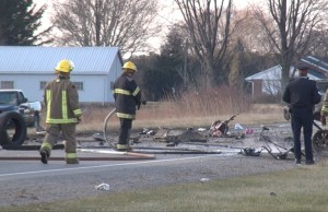 The scene of a fatal crash on Queens Line west of Chatham on Dec. 7, 2013.