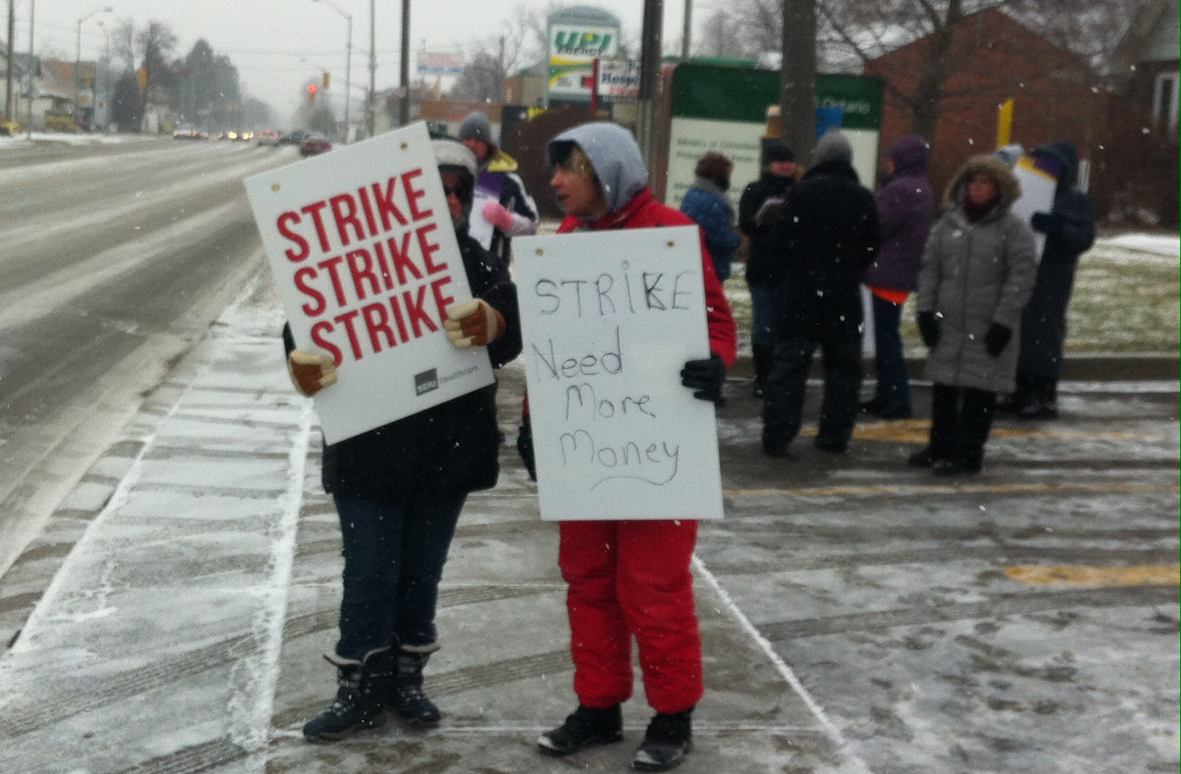 Personal Support Workers On Strike