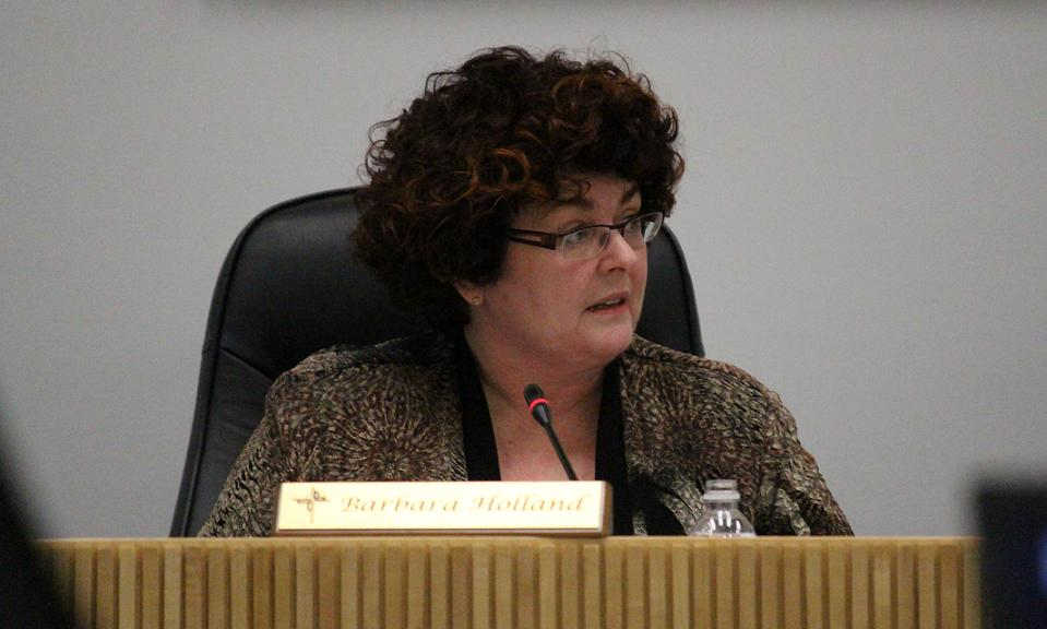 Windsor-Essex Catholic District School Board Chair Barb Holland, January 28, 2014. (Photo by Mike Vlasveld)