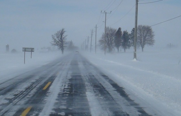 The road is somewhat visible in partly covered roads, but they can be deceptively slippery.