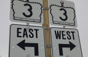 Hwy. 3 sign in Leamington. Photo taken January 26, 2014. (Ricardo Veneza)